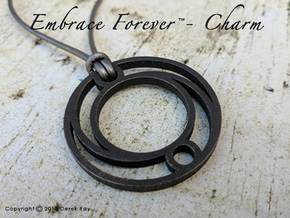 Embrace Forever™ - pendant (stainless steel) in Polished and Bronzed Black Steel