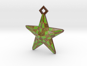 Stylised Sea Star ornament for Christmas in Glossy Full Color Sandstone