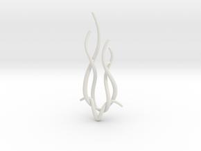Spiral Deer pendant in White Natural Versatile Plastic