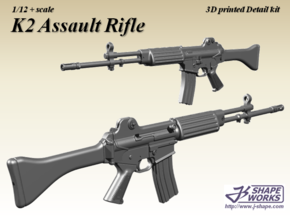1/9 K2 Assault rifle in Smoothest Fine Detail Plastic