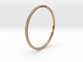 """Bangle simple """"diamonds"""" in 14k Rose Gold Plated Brass"""