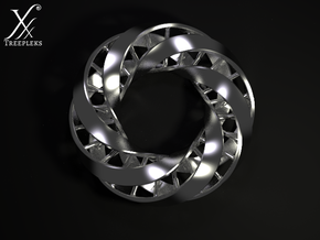 Double DNA trefoil, Cycle of life in Stainless Steel