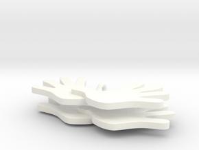 Dagsværk øreringe in White Processed Versatile Plastic