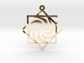 """Melchizedek Vortex 1.6"""" in 14k Gold Plated Brass"""