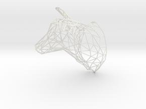 3D Printed Large Doe Trophy Head Facing Right Orig in White Natural Versatile Plastic