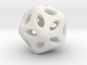 Hollow Hedra in White Natural Versatile Plastic