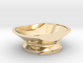 Boundless CF/CFX Filling Funnel in 14k Gold Plated Brass: Small