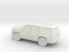 1/64 2015 Chevrolet Tahoe in White Natural Versatile Plastic