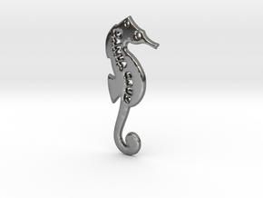 Santa Cruz Seahorse Pendant in Polished Silver