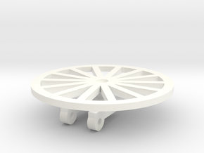 TIle Stringer Wheel in White Strong & Flexible Polished