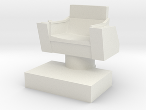 Captain's Chair, 28mm Scale in White Natural Versatile Plastic