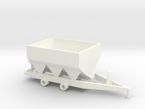 Fertilizer Spreader 8 Ton in White Strong & Flexible Polished
