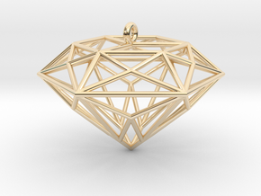 Diamond Ornament in 14k Gold Plated Brass