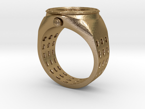 Watch Rings in Polished Gold Steel: 7 / 54