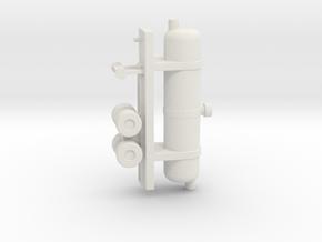 1/144 Scale Oxygen Tank Trailer in White Natural Versatile Plastic