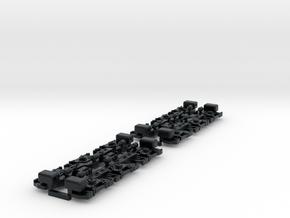 sideframes Flexicoil trucks G26c 1:87 in Black Hi-Def Acrylate
