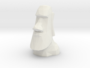Moai LED Tea Light Holder in White Natural Versatile Plastic