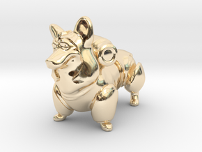 Mega Corgi in 14K Yellow Gold