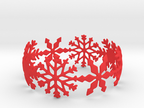 Snowflake Bangle (medium) in Red Strong & Flexible Polished: Medium