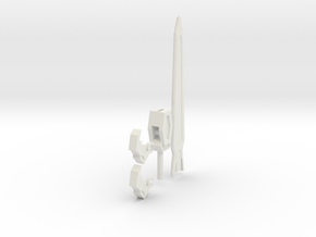 dino robot sword 5mm version in White Strong & Flexible