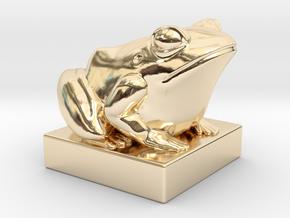 Kek - 4D Chess piece in 14k Gold Plated Brass