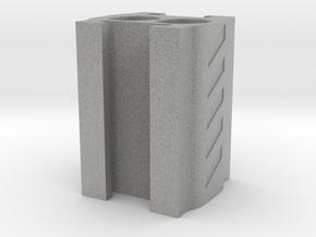 NerfUnderbarrelAttach+DoubleDartClip in Metallic Plastic