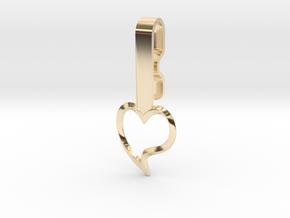 Heart Collar Hanger in 14k Gold Plated