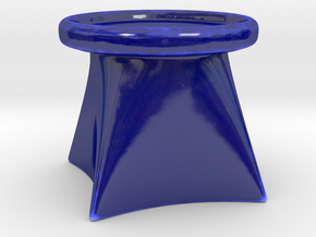 Candle Holder G in Gloss Cobalt Blue Porcelain