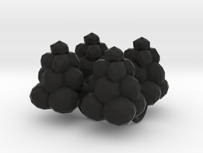 Power Grid Coal Piles - Set of 4 in Black Strong & Flexible