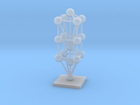 3D Tree Of Life Sculpture  in Smooth Fine Detail Plastic
