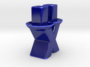Candle Holder II in Gloss Cobalt Blue Porcelain
