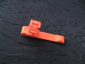 Pen Clip: for 14.0mm Diameter Body in Orange Processed Versatile Plastic
