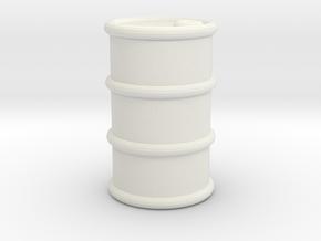 Power Grid Oil Barrels - One Barrel in White Natural Versatile Plastic