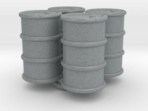 Power Grid Oil Barrels - Set of 4 in Polished Metallic Plastic