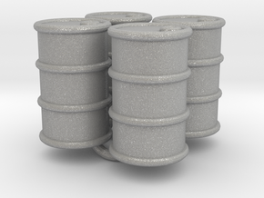 Power Grid Oil Barrels - Set of 4 in Aluminum