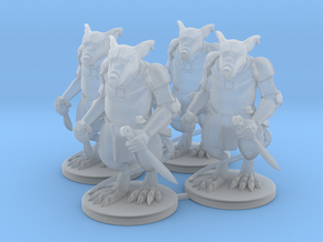 Elite Rat Warriors x4  in Smooth Fine Detail Plastic