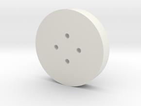 Small Shirt Button in White Natural Versatile Plastic