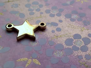 Star Pendant - Size 1,45cm in 14k Gold Plated Brass