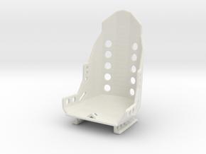 Racing Seat W Rails 1/25 in White Natural Versatile Plastic