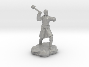 High Elf (Eladrin) Monk With Mace in Raw Aluminum