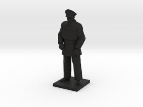 Police Standing (Winter in Gotham), 1/64 in Black Natural Versatile Plastic