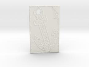 Celtic Anchor Nautical Pendant 1 by Gabrielle in White Natural Versatile Plastic