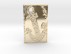 Celtic Anchor Nautical Pendant 1 by Gabrielle in 14K Yellow Gold