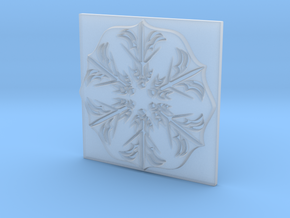 Snowflake in Smooth Fine Detail Plastic: Extra Large