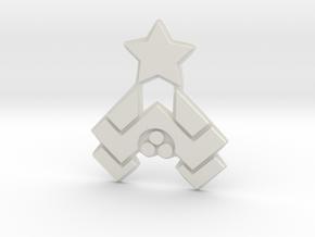 Nakatomi Badge in White Natural Versatile Plastic