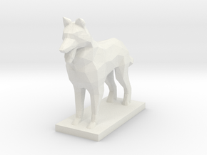 German Shepherd, Multiple Scales in White Natural Versatile Plastic: 1:64 - S
