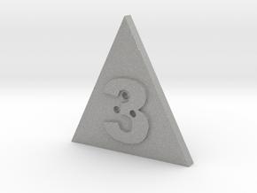 3 Hole Triangle Shape Button in Aluminum