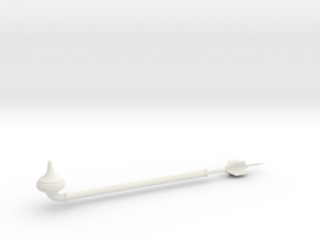 Gaffi Stick Assembly 1/12 Scale in White Natural Versatile Plastic