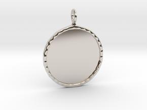 Mirror Charm in Rhodium Plated Brass
