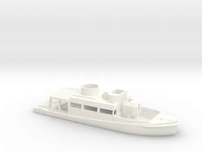 1/144 Scale Patrol Boat Water Line in White Processed Versatile Plastic